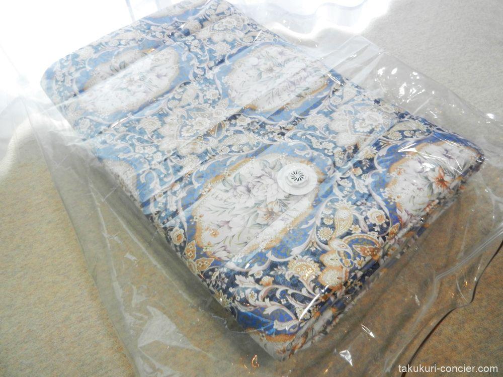 敷く布団と圧縮袋