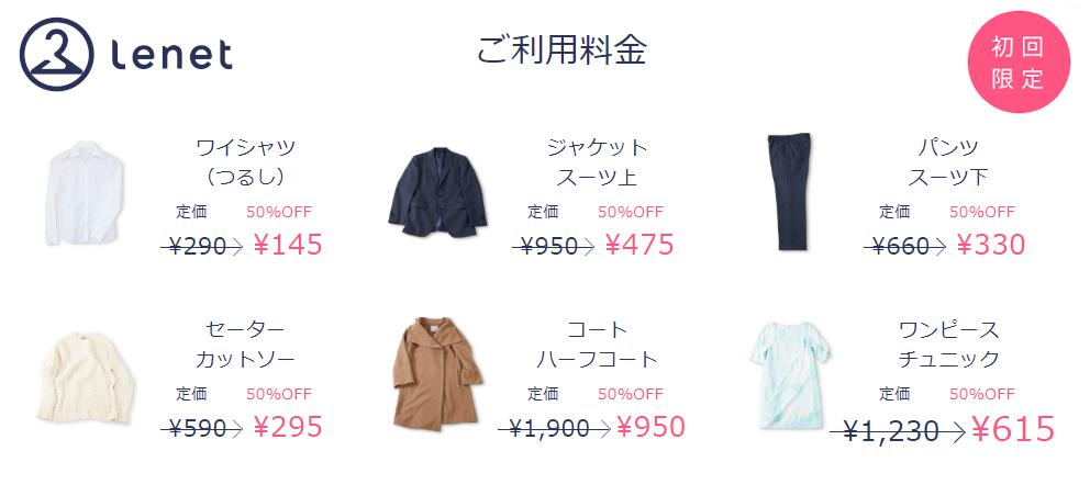 リネット 料金 初回限定50%OFF