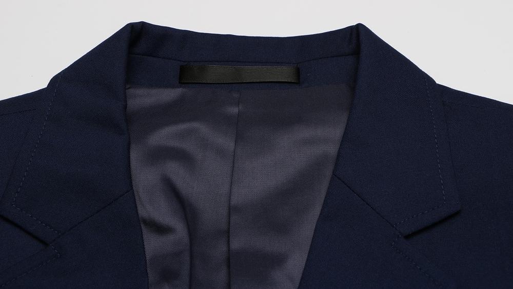 スーツ 紺 襟