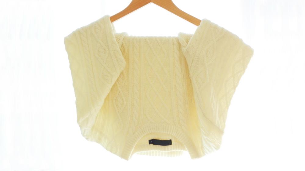 セーター ハンガー干し 袖掛け