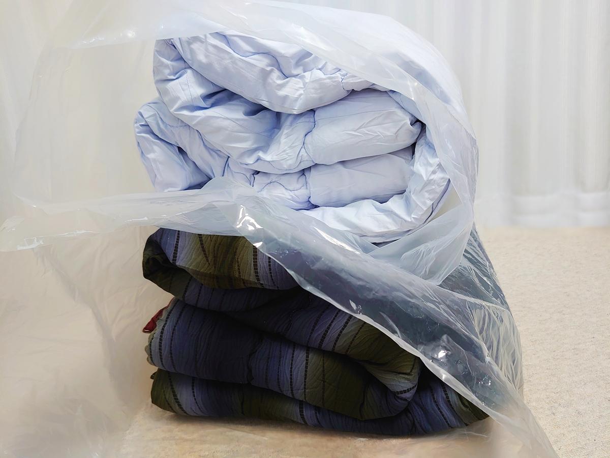 クリーニングモンスター 布団の宅配クリーニング クリーニング後 圧縮袋 開封後の保存袋として利用2