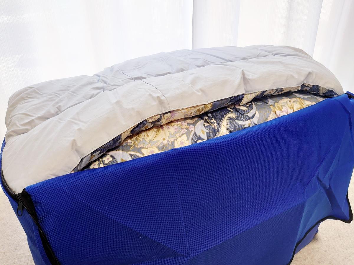 クリーニングモンスター 布団の宅配クリーニング 掛け布団 こたつ布団 集荷バッグに入れる4